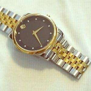 Mens Movado two tone Swiss made watch